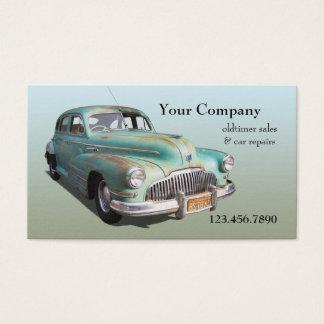 Cartão de visita dos reparos das vendas do carro