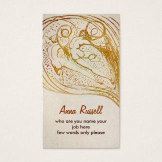 cartão de visita dos seres humanos
