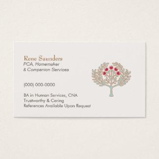 Cartão de visita dos serviços do Homemaker e do