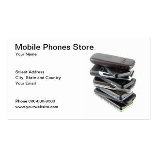 Cartão de visita dos telefones móveis