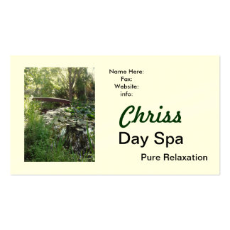 Cartão de visita dos termas do dia
