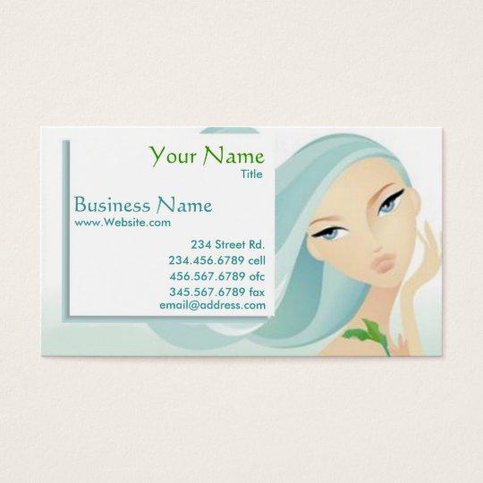 Cartão de visita dos termas do salão de beleza