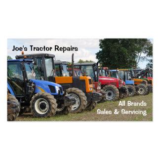 Cartão de visita dos tratores agrícolas