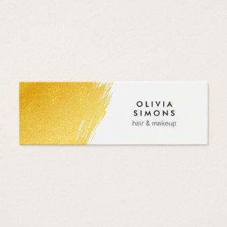 Cartão de visita dourado