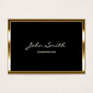 Cartão de visita dourado do Chiropractor da beira