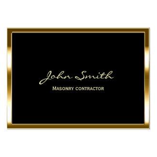 Cartão de visita dourado do contratante da alvenar