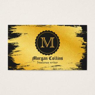 Cartão de visita dourado luxuoso