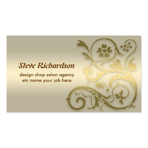 cartão de visita dourado moderno do inclinação