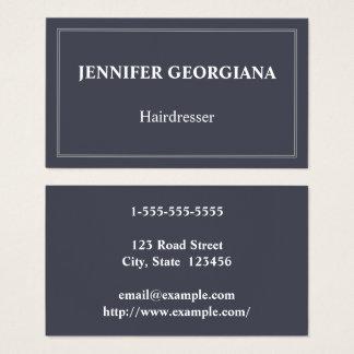 Cartão de visita elegante & básico do cabeleireiro