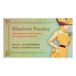 cartão de visita elegante bonito da senhora do