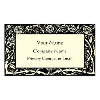 Cartão de visita elegante da beira floral de