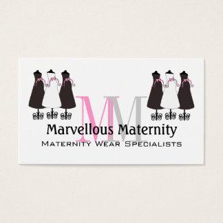 Cartão de visita elegante da maternidade do