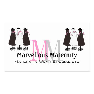 Cartão de visita elegante da maternidade do monogr
