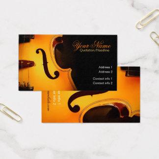 Cartão de visita elegante da música do violino