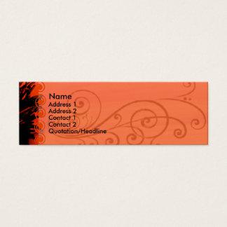 Cartão de visita elegante da papoila