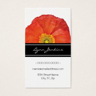 Cartão de visita elegante das papoilas vermelhas