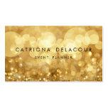 Cartão de visita elegante de Bokeh do brilho do ou