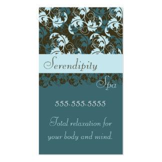 Cartão de visita elegante de brocado