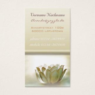 Cartão de visita elegante de Lotus branco