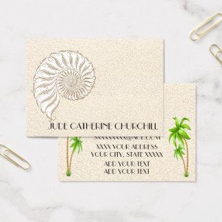 Cartão de visita elegante de Shell