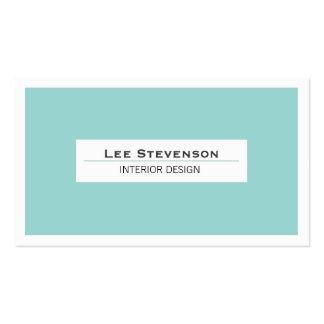 Cartão de visita elegante de turquesa do designer