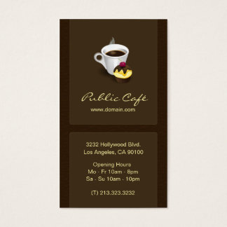 Cartão de visita elegante do café do chocolate de