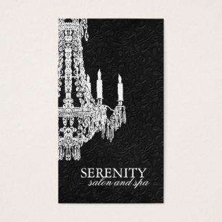 Cartão de visita elegante do candelabro