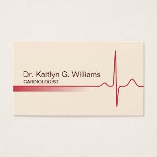 Cartão de visita elegante do cardiologista da onda