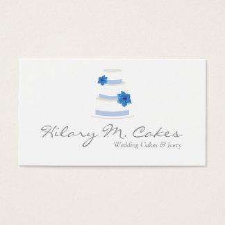 Cartão de visita elegante do desenhista do bolo de