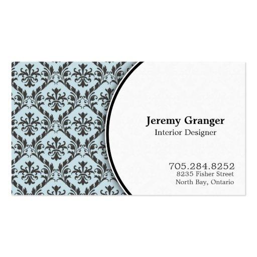 Cartão de visita elegante do designer de interiore