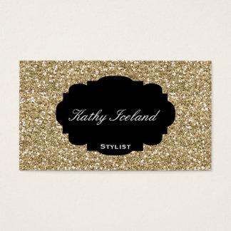 Cartão de visita elegante do estilista do brilho