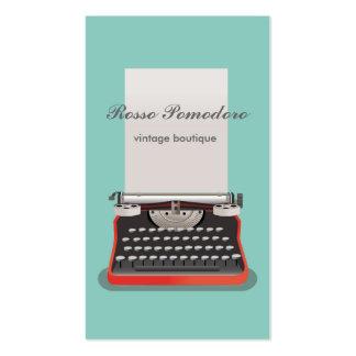 Cartão de visita elegante do estilo do vintage