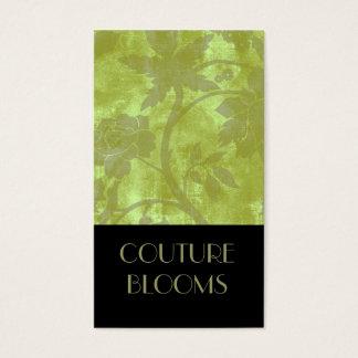 Cartão de visita elegante do florista do Couture