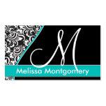 Cartão de visita elegante do monograma - cerceta