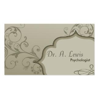 Cartão de visita elegante do psicólogo -
