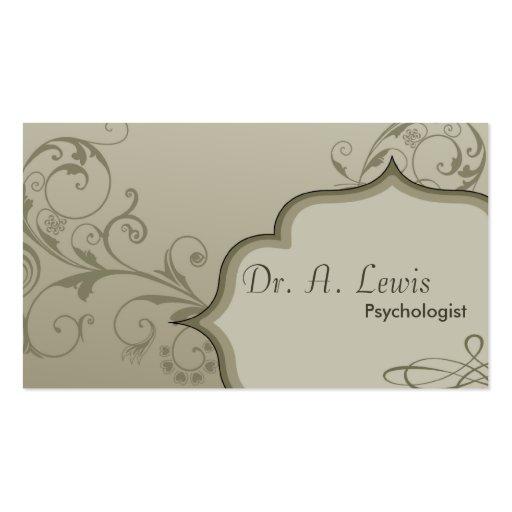 Cartão de visita elegante do psicólogo - redemoinh