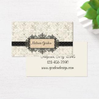 Cartão de visita elegante do quadro