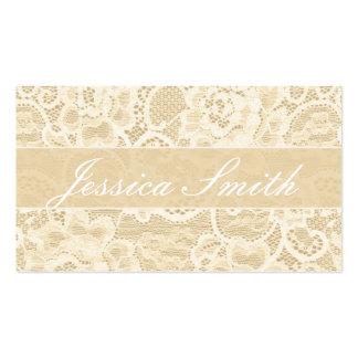 Cartão de visita elegante do rico antigo do laço
