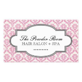 Cartão de visita elegante do salão de beleza e dos
