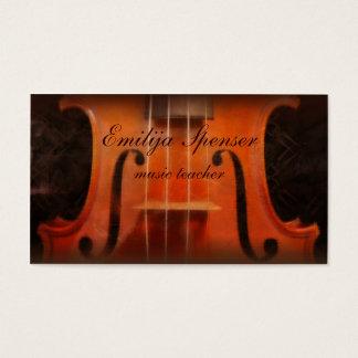 Cartão de visita elegante do tutor da música do