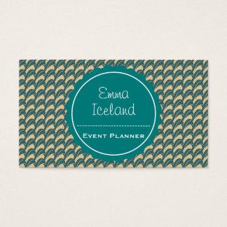 Cartão de visita elegante do vintage