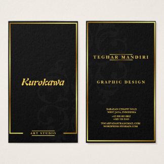 Cartão de visita elegante e luxuoso moderno do