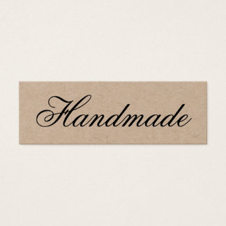 Cartão de visita elegante Handmade de kraft do