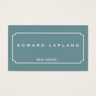Cartão de visita elegante minimalista moderno