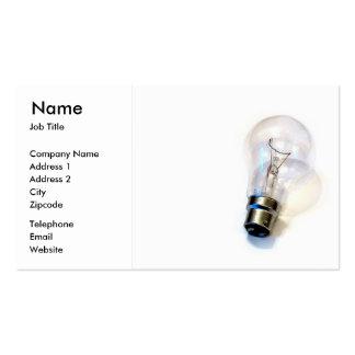 Cartão de visita elétrico da ampola da iluminação