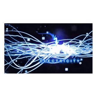 Cartão de visita elétrico da eletricidade do