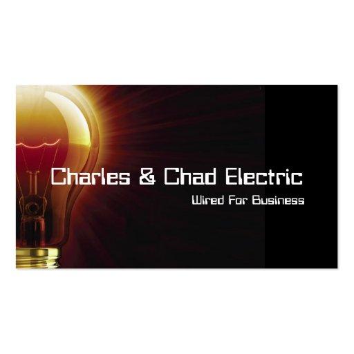 Cartão de visita elétrico da eletricidade do eletr
