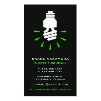 Cartão de visita elétrico de Eco