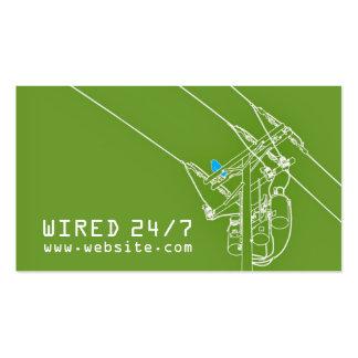 Cartão de visita elétrico do eletricista