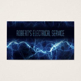Cartão de visita elétrico do eletricista do